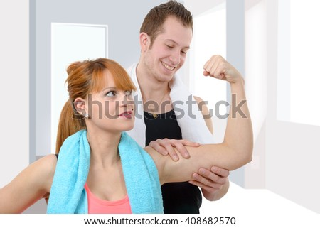 a man and woman after fitness exercise