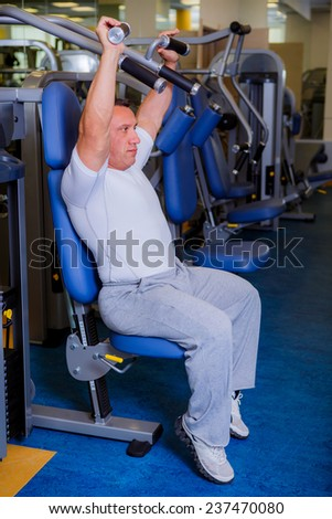 a man engaged in the gym