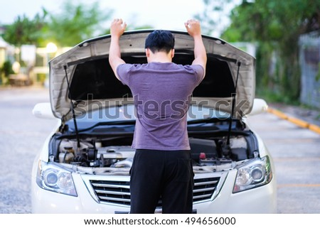 a man feel stress because his car is broken down