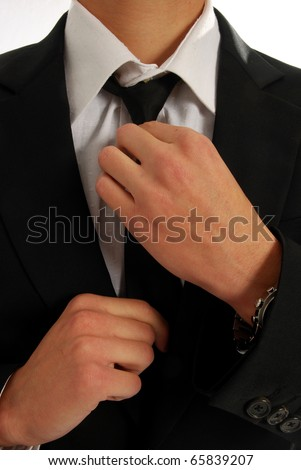 A man is made to tie the knot - stock photo