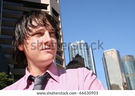 A Man Of The Company Has A Visionary Insight Over A Business Deal - stock photo