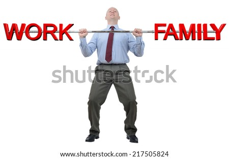 A man struggling to cope with family and work life - stock photo
