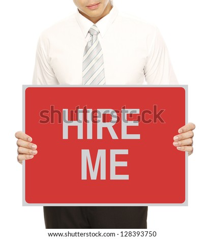 A man wanting to be hired - stock photo