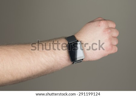 A man wearing a smart watch.