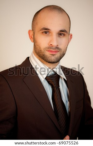 A man wearing a suit - stock photo