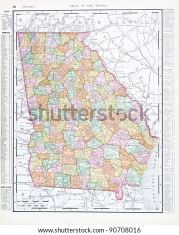 Georgia Map Stock Images RoyaltyFree Images Vectors Shutterstock - Map if georgia