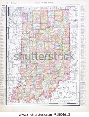 Indiana Map Stock Images RoyaltyFree Images Vectors Shutterstock - Indiana us map