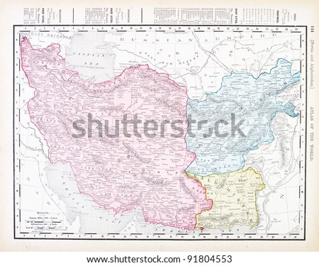 Map iran afghanistan spoffords atlas world stock photo royalty free a map of iran and afghanistan from spoffords atlas of the world printed in the gumiabroncs Choice Image