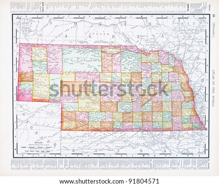 Nebraska Map Stock Images RoyaltyFree Images Vectors - Nebrasks us map