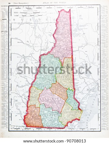 New Hampshire Map Stock Images RoyaltyFree Images Vectors - New hampshire in us map