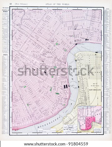New Orleans Map Stock Images RoyaltyFree Images Vectors - New orleans on a us map