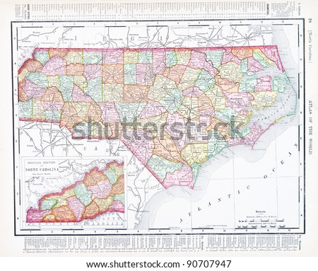 North Carolina Map Stock Images RoyaltyFree Images Vectors - A map of north carolina