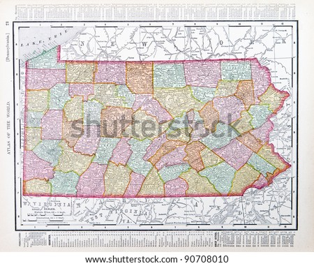 Pennsylvania Map Stock Images RoyaltyFree Images Vectors - Us map pennsylvania