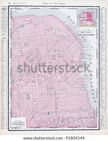 A Map Of San Francisco California Usa From Spofford S Atlas Of The World