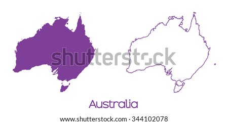 A Map of the country of Australia