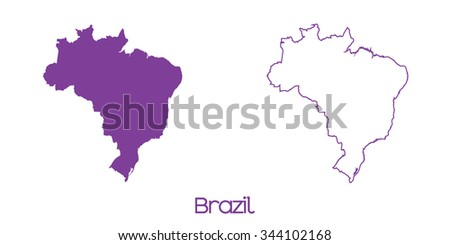 A Map of the country of Brazil