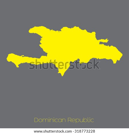 A Map of the country of Dominican Republic