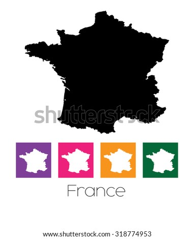 A Map of the country of France