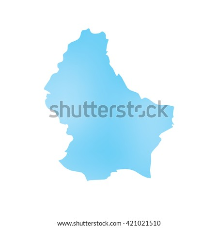 A Map of the country of Luxembourg - stock photo