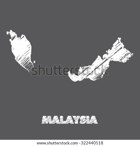 A Map of the country of Malaysia