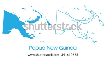 A Map of the country of _Papua New Guinea