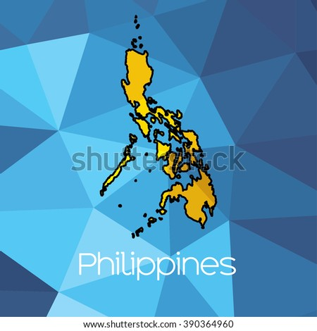 A Map of the country of Philippines
