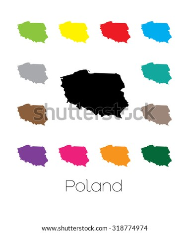 A Map of the country of Poland