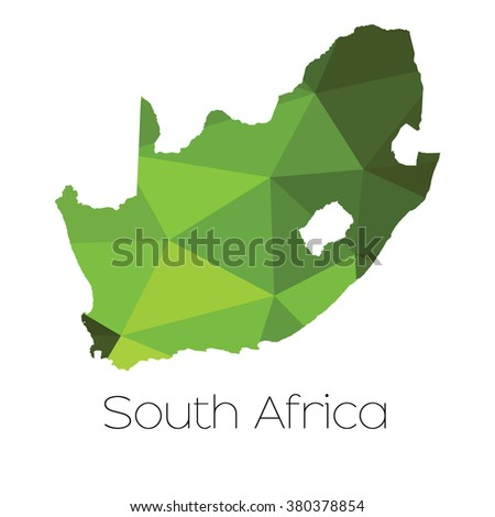 A Map of the country of South Africa South Africa - stock photo