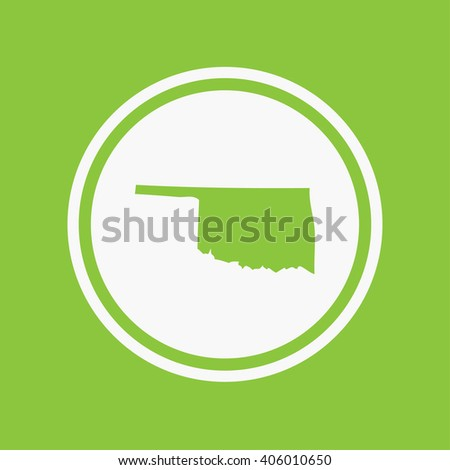 A Map of the the state Oklahoma