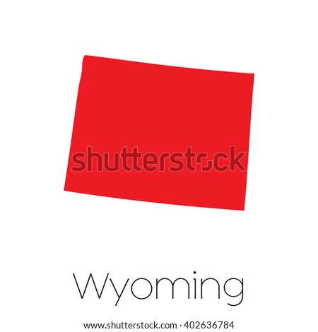 A Map of the the state  Wyoming