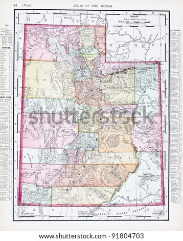Utah Map Stock Images RoyaltyFree Images Vectors Shutterstock - Us map utah