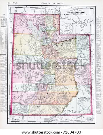 Utah Map Stock Images RoyaltyFree Images Vectors Shutterstock - Utah map usa