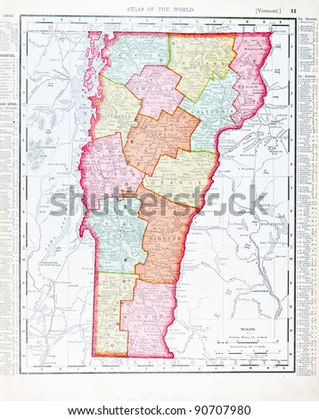 Vermont Map Stock Images RoyaltyFree Images Vectors Shutterstock - Vermont in usa map
