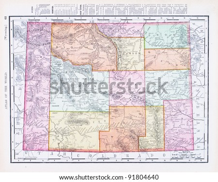 Wyoming Map Stock Images RoyaltyFree Images Vectors Shutterstock - Wyoming us map
