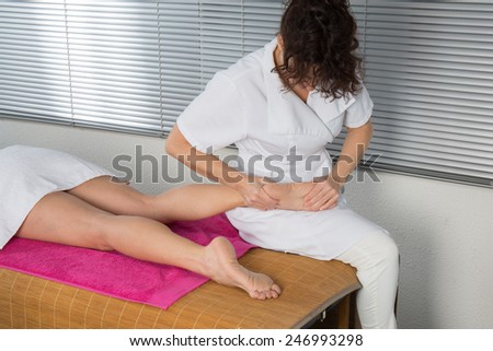 A massage foot female - stock photo