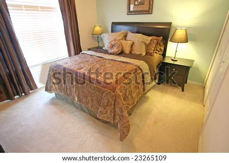 A Master Bedroom, interior shot in a home.