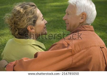 A mature couple. - stock photo