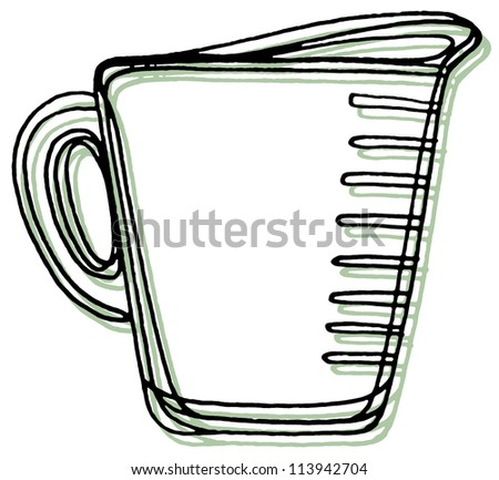 A measuring cup - stock photo