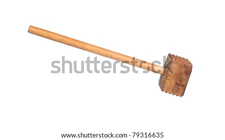 A meat tenderizing mallet isolated on white.