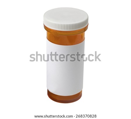 A medical pill bottle - stock photo