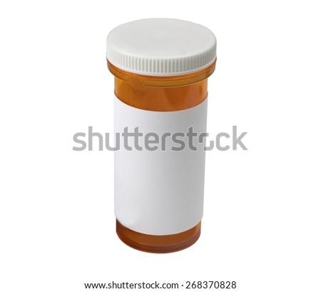 A medical pill bottle - stock photo