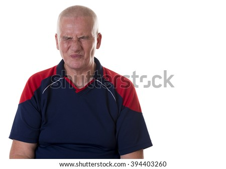 A men with facial expression - sour - stock photo