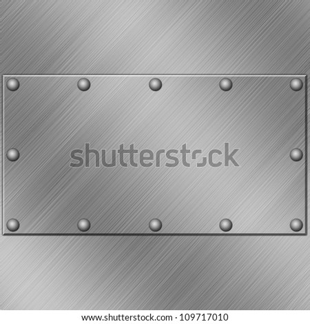 A Metal Plate Background with Rivets