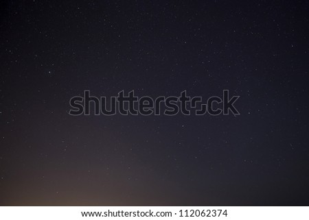 A meteor or shooting star caught on camera during the 2012 Perseid Meteor Shower in Malta - stock photo