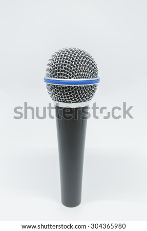 A microphone on a white background
