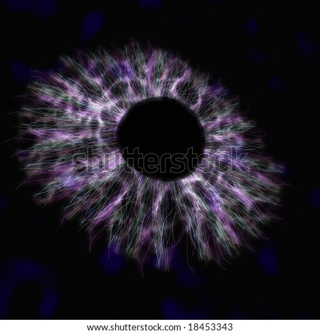 A microscopic blackhole like one that could possibly be created via the newly functional Large Hadron Collider - stock photo