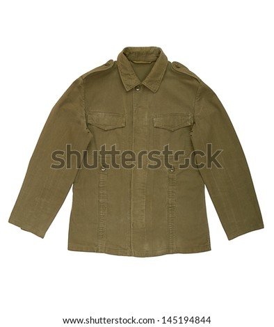 A military jacket is on white background.  - stock photo