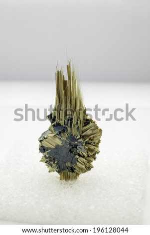 A mineral specimen of rutile hematite from Brazil - stock photo