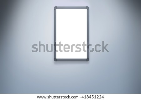 A mirror in a white wall