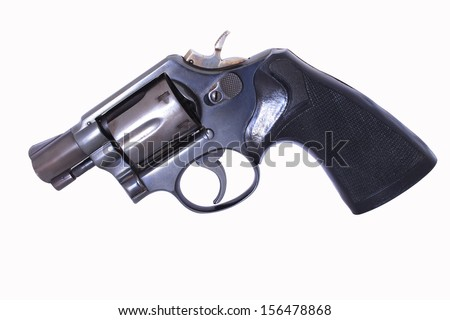 a 38mm pistol gun - stock photo